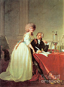 Combustion Posters - Antoine-laurent Lavoisier And His Wife Poster by Science Source