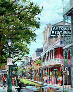 French Quarter Painting Prints - Antoines Print by Dianne Parks