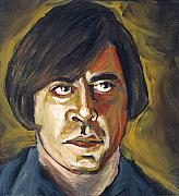 Movie Painting Originals - Anton Chigurh by Buffalo Bonker