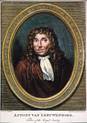 Cravat Framed Prints - ANTON van LEEUWENHOEK Framed Print by Granger