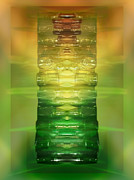 Antique Digital Art Prints - Antone Bottle Chakras Print by Rich Beer