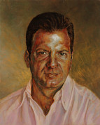 Portraits Oil Prints - Antonios portrait Print by Karina Llergo Salto