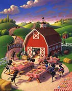 Barn Art - Ants at the Bake Off by Robin Moline