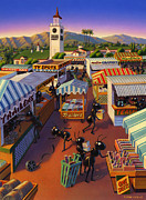 Shopping Prints - Ants at the Hollywood Farmers Market Print by Robin Moline
