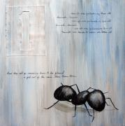 Insects Painting Posters - Ants Marching 1 Poster by Kristin Llamas