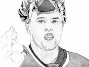 Sports Portrait Drawings Drawings - Antti Niemi by Kiyana Smith