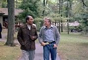 Casual Blue Jeans Prints - Anwar Sadat And Jimmy Carter Walking Print by Everett