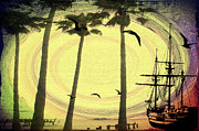 Pirate Ship Prints - Any Port in a Storm Print by Bill Cannon