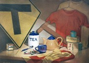 Teapot Drawings - Anyone For T by Jan Lawnikanis