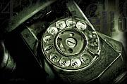 Vintage Telephone Prints - Anyone Home Print by Barb Pearson