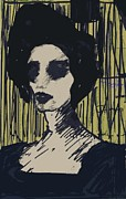 Printmaking Paintings - anyone II by Nesli Sisli