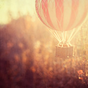 Hot-air Balloon Prints - Anything is Possible Print by Irene Suchocki