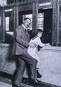 Actors Prints - A.p. Giannini Helps Child Actor Jackie Print by Everett
