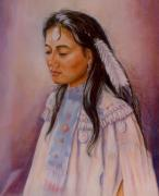 Indian Pastels Prints - Apache Maiden Print by Ann Peck