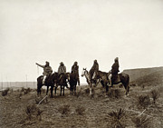 Horseback Photos - APACHE MEN, c1903 by Granger