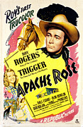 Cowboy Hat Photos - Apache Rose, Roy Rogers, Dale Evans by Everett