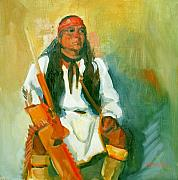 Southwest Art Paintings - Apache Urban Warrior by Suzanne Giuriati-Cerny
