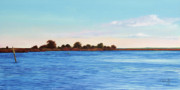 Oysters Painting Prints - Apalachicola Bay Autumn Morning Print by Paul Gaj