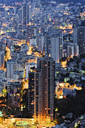 Monaco Art - Apartment Buildings at Dusk by Jeremy Woodhouse