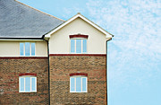 Home Ownership Prints - Apartments With Blue Sky Print by Luxx Images