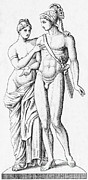 Illustration Of Love Prints - Aphrodite And Ares, Greek Olympians Print by Photo Researchers