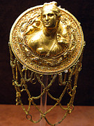 Ancient Greek Jewelry Prints - Aphrodite Gold Hairnet Print by Andonis Katanos