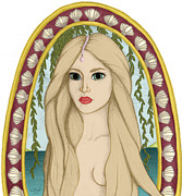 Goddess Aphrodite Digital Art Posters - Aphrodite Poster by Melissa Arsenault