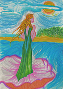 First Star Drawings - Aphrodite Venus by First Star Art