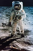 Astronomy Photo Prints - Apollo 11: Buzz Aldrin Print by Granger