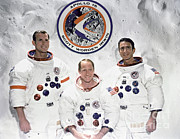 Official Portrait Posters - Apollo 15 Crew Poster by Nasa