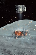 Man On The Moon Posters - Apollo 17 Ascent Stage, Artwork Poster by Richard Bizley