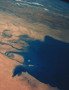 Gulf Images Posters - Apollo 7 Photograph Of Kuwait, Iraq & Iran Poster by Nasa