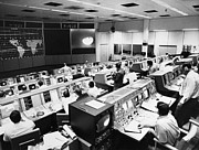 Telecommunication Posters - Apollo 8: Mission Control Poster by Granger