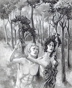 Carrieann Reda Metal Prints - Apollo and Daphne Metal Print by CarrieAnn Reda