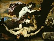 Greek Gods Paintings - Apollo and Marsyas by Jusepe de Ribera
