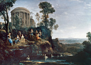 Muse Paintings - Apollo And The Muses by Granger