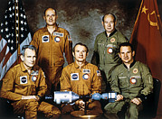 Alexei Prints - Apollo-soyuz Project Crew, 1975 Print by Ria Novosti
