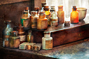Cure Prints - Apothecary - Chemical Ingredients  Print by Mike Savad