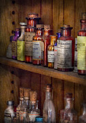 Elixer Framed Prints - Apothecary - Inside the Medicine Cabinet  Framed Print by Mike Savad