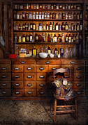 Help Posters - Apothecary - Just the usual selection Poster by Mike Savad