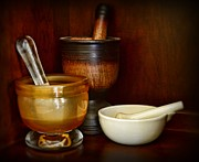 Mortar And Pestle Framed Prints - Apothecary - Mortars and Pestles Framed Print by Paul Ward
