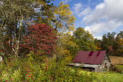 Farm Scenes Posters - Appalachian Autumn Poster by Debra and Dave Vanderlaan