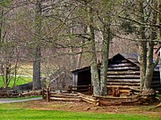 Log Cabins Art - Appalachian Cabin by Jim Goldseth
