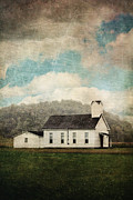 Church Yard Framed Prints - Appalachian Church Framed Print by Stephanie Frey
