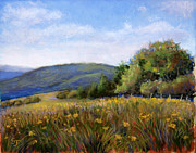 Field Pastels Prints - Appalachian Field Print by Susan Jenkins
