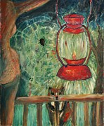 Oil Lamp Originals - Appalachian Nights  by Avonelle Kelsey