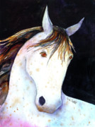 Caricature Painting Framed Prints - Appaloosa Softly Framed Print by Renee Chastant