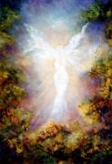 Guardian Angel Painting Posters - Apparition II Poster by Marina Petro