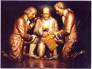 Benjamin Franklin Sculptures - Appeal to Divine Providence - The Founding Fathers bronze sculpture by Stan Watts by Stan Watts