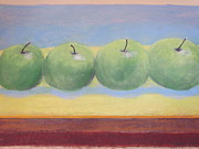 Framed Pastels Originals - Appels by Chris Van der Merwe